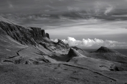 Quiraing in infrared 1, Trotternish Ridge, Isle of Skye, skye images