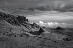 Quiraing in infrared 1, Trotternish Ridge, Isle of Skye, skye images